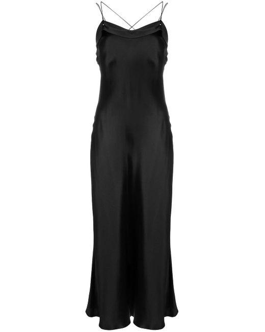 Maison Margiela サテン スリップドレス Black