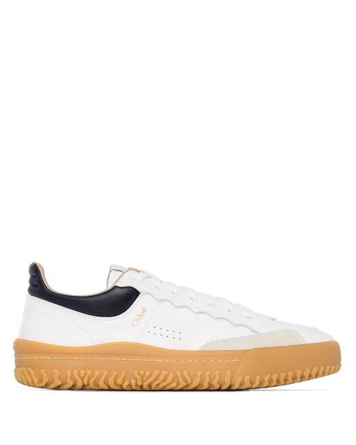 Chloé White Low-top Lace-up Sneakers