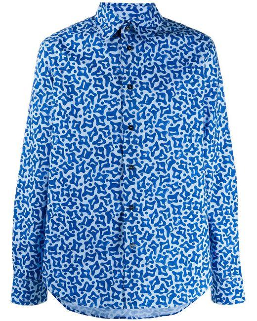 メンズ Marni プリント シャツ Blue