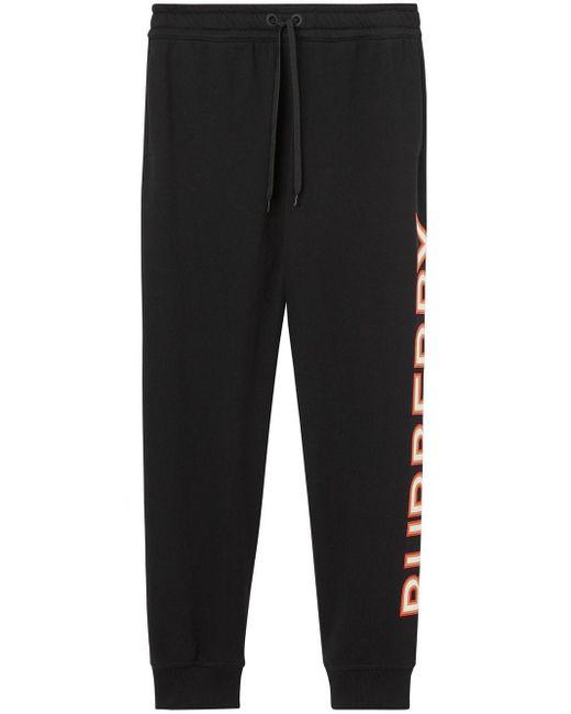 Pantaloni sportivi con stampa di Burberry in Black