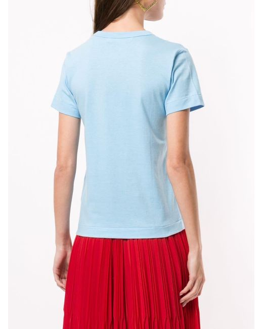 COMME DES GARÇONS PLAY ハートロゴ Tシャツ Blue