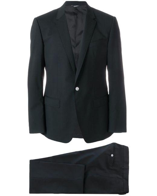 Dolce & Gabbana Black Three Piece Suit for men