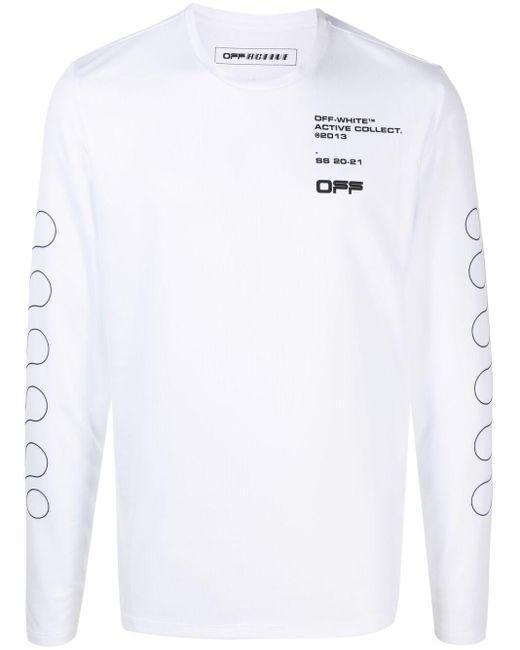 T-shirt a maniche lunghe di Off-White c/o Virgil Abloh in White da Uomo