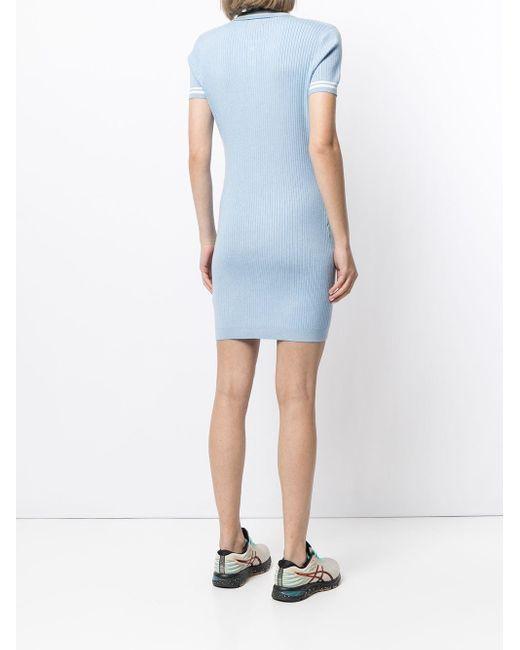 Cynthia Rowley ショートスリーブ ドレス Blue