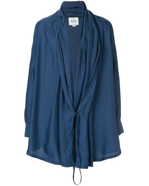 メンズ Vivienne Westwood Anglomania ベルテッド シャツ Blue