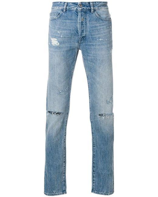 Marcelo Burlon - Blue Ripped Slim-fit Jeans for Men - Lyst