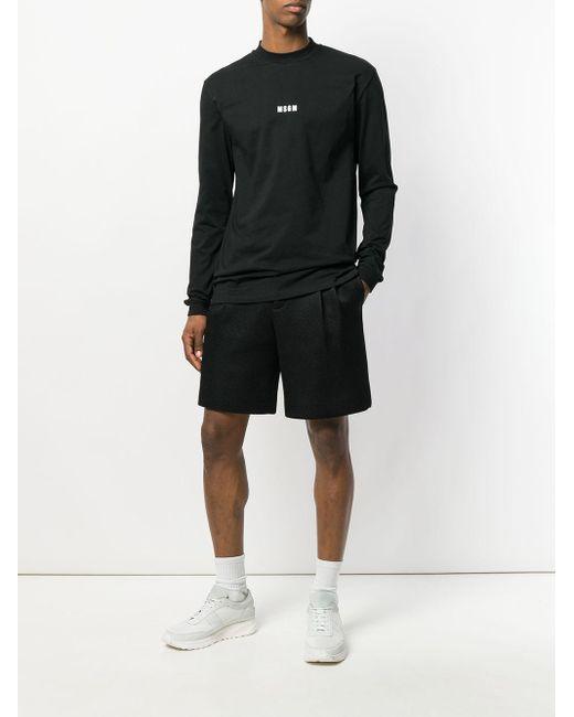 メンズ MSGM ロゴ スウェットシャツ Black