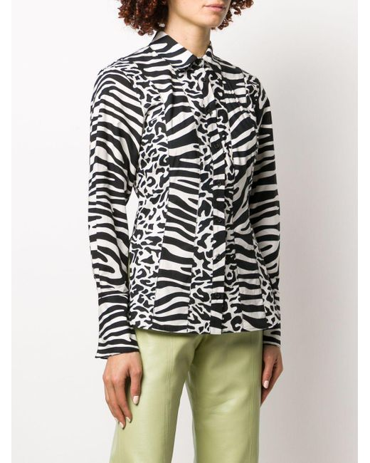 PROENZA SCHOULER WHITE LABEL ゼブラプリント シャツ Multicolor