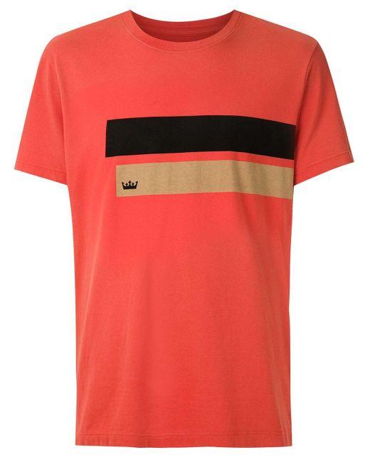 メンズ Osklen Barras プリント Tシャツ Red