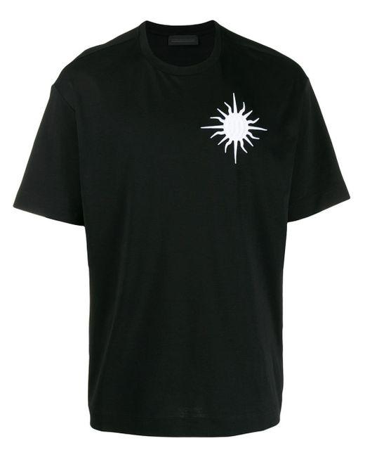 メンズ Diesel Black Gold パッチ Tシャツ Black
