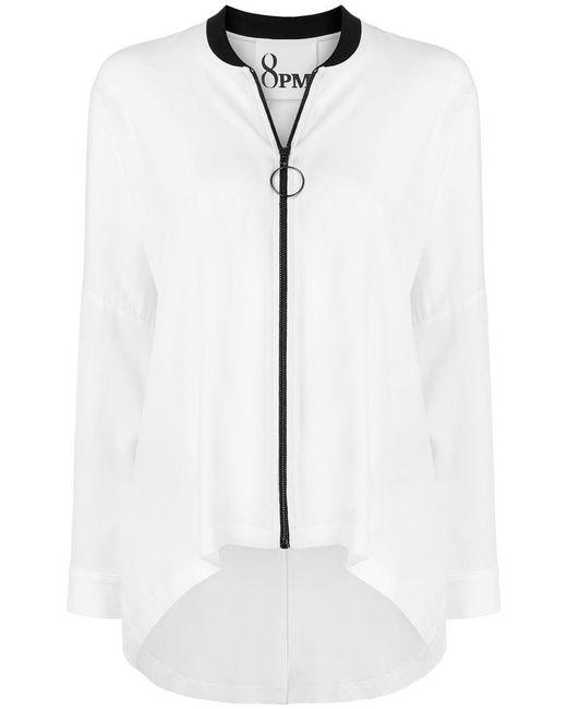 8pm - White Soft Zipped Jacket - Lyst