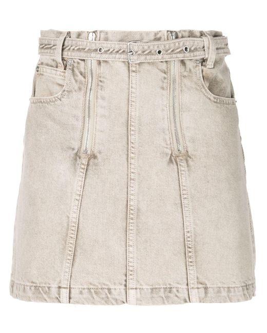 PROENZA SCHOULER WHITE LABEL ウォッシュド デニムスカート Multicolor