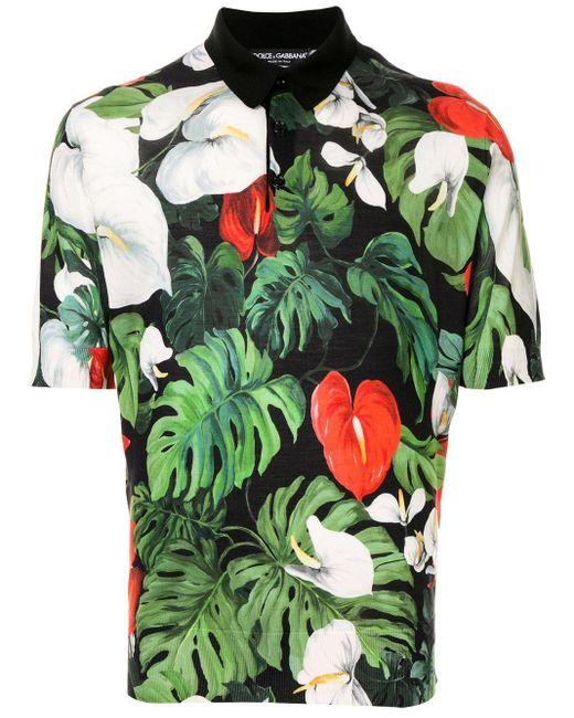 メンズ Dolce & Gabbana ヘンリーネック シャツ Green