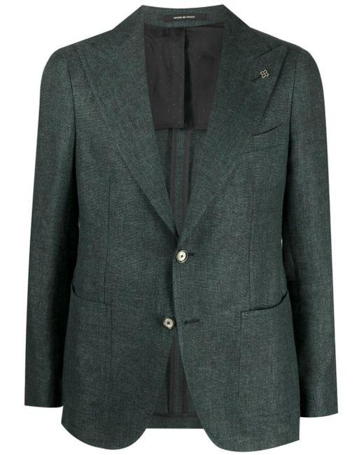 メンズ Tagliatore シングルジャケット Green