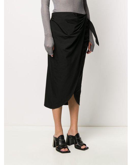 Maison Margiela サイドタイ ラップスカート Black