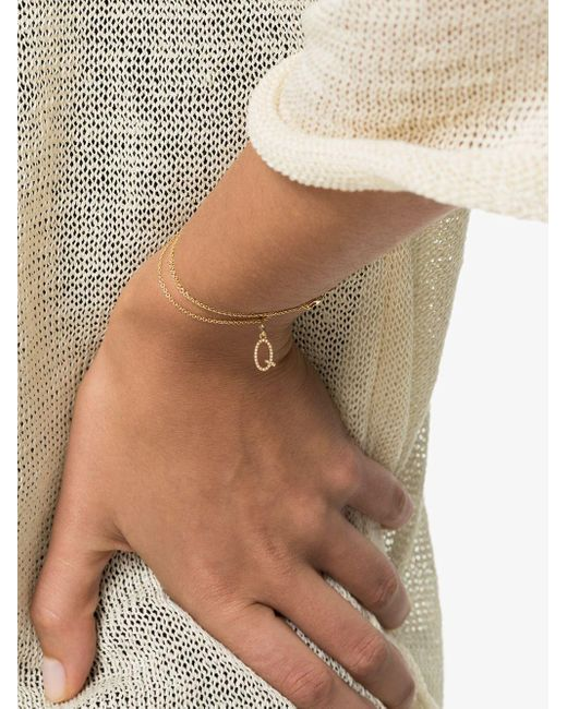 Rosa De La Cruz Q ダイヤモンド ブレスレット 18kイエローゴールド Metallic