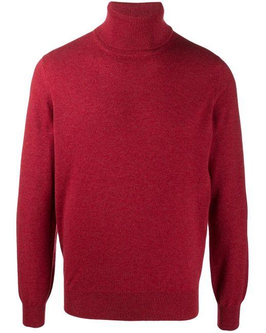 Джемпер С Высоким Воротником Brunello Cucinelli для него, цвет: Red