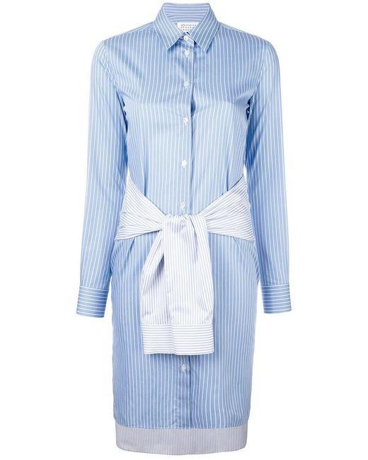 Maison Margiela   Blue Striped Shirt Dress   Lyst