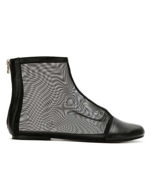 Gloria Coelho   Black Mesh Boots   Lyst