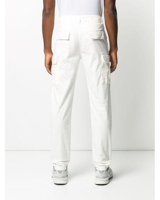 メンズ Eleventy ストレート カーゴパンツ White