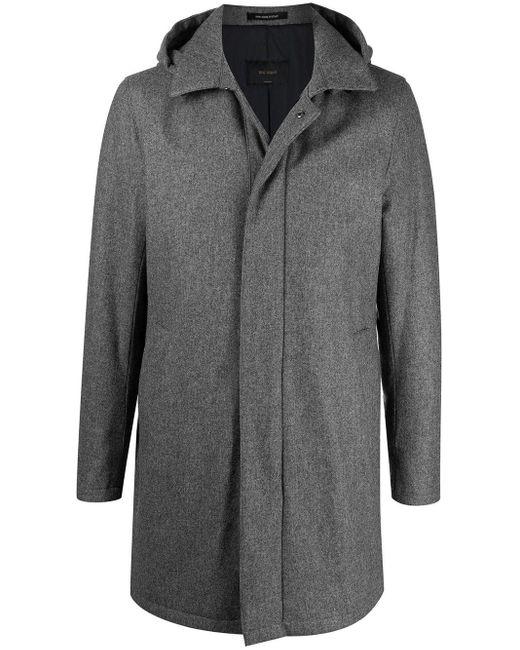メンズ Dell'Oglio フーデッド シングルコート Gray