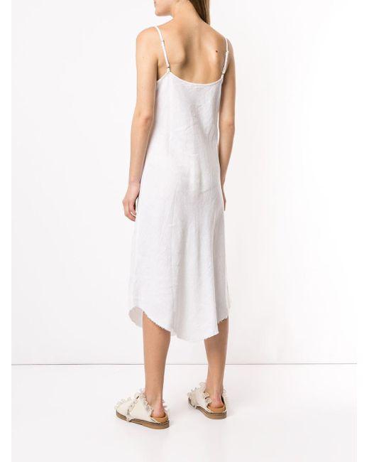Venroy バイアスカット ドレス White