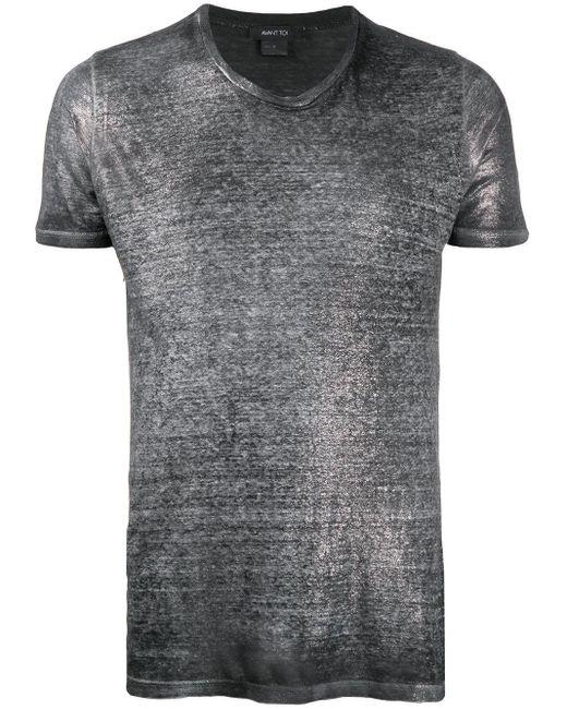 メンズ Avant Toi メタリック Tシャツ Gray