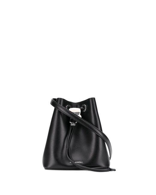 Karl Lagerfeld K/ikonik バケットバッグ Black