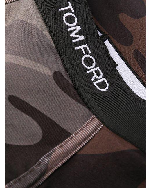 メンズ Tom Ford カモフラージュ ボクサーパンツ Black