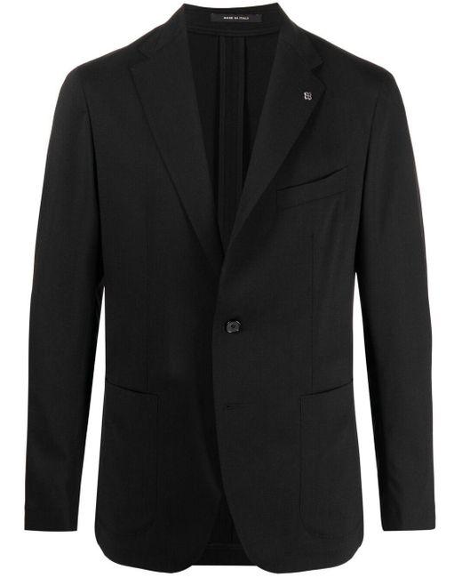 メンズ Tagliatore シングルジャケット Black