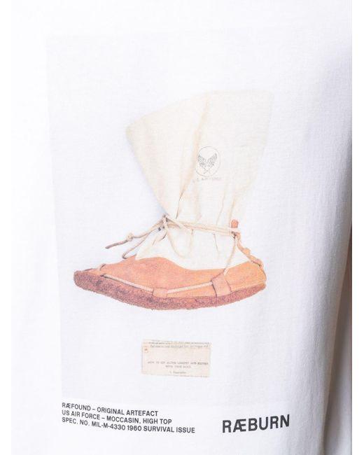 メンズ Raeburn Artefact Moccasin Tシャツ White