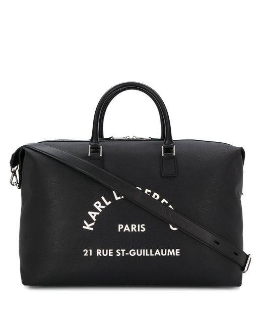 Karl Lagerfeld ロゴ ダッフルバッグ Black