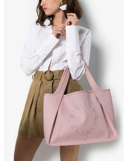 Stella McCartney ステラロゴ ハンドバッグ Pink