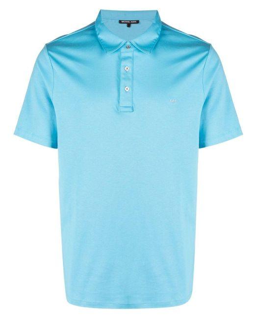 メンズ Michael Kors ロゴ ポロシャツ Blue