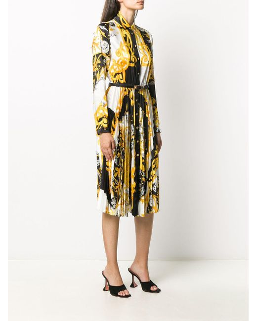 Versace ベルテッド シャツドレス White