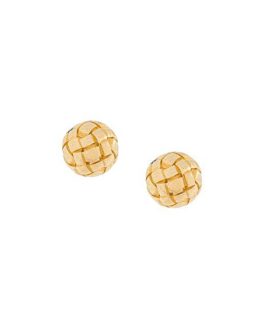 Bottega Veneta - Metallic Intrecciato Stud Earrings - Lyst