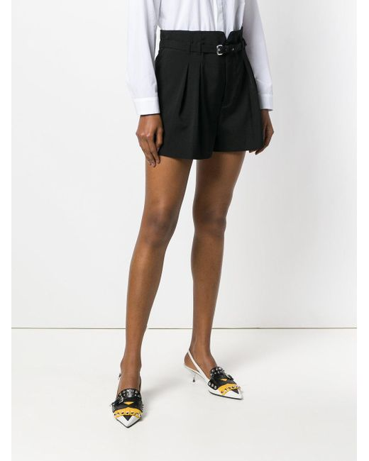 belted culotte shorts - Black Red Valentino bSQvdoosDA