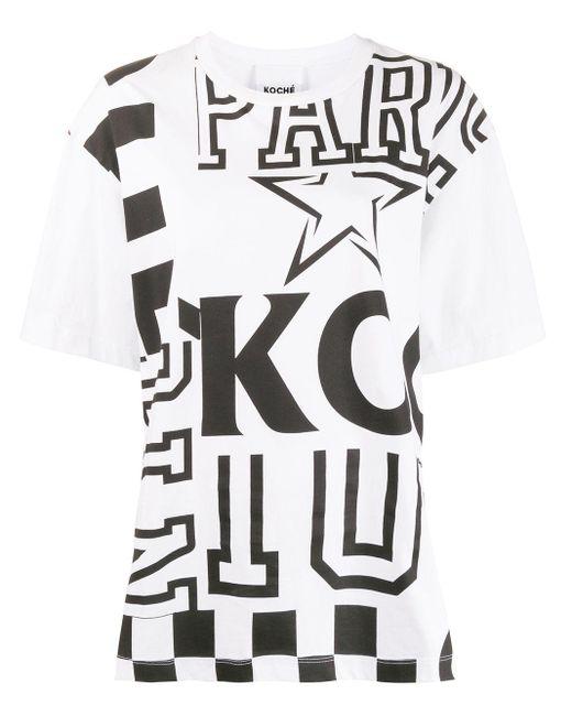 Koche パッチワークプリント Tシャツ White
