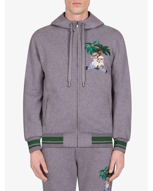 Худи С Вышивкой Dolce & Gabbana для него, цвет: Gray