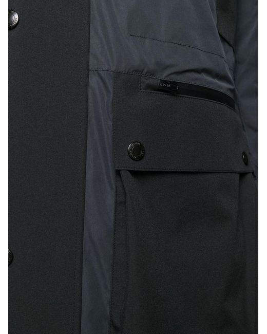 メンズ Z Zegna ジップアップ フーデッドコート Black