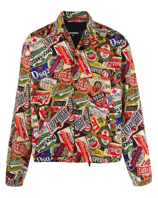 メンズ DSquared² ロゴパッチ ジャケット Multicolor
