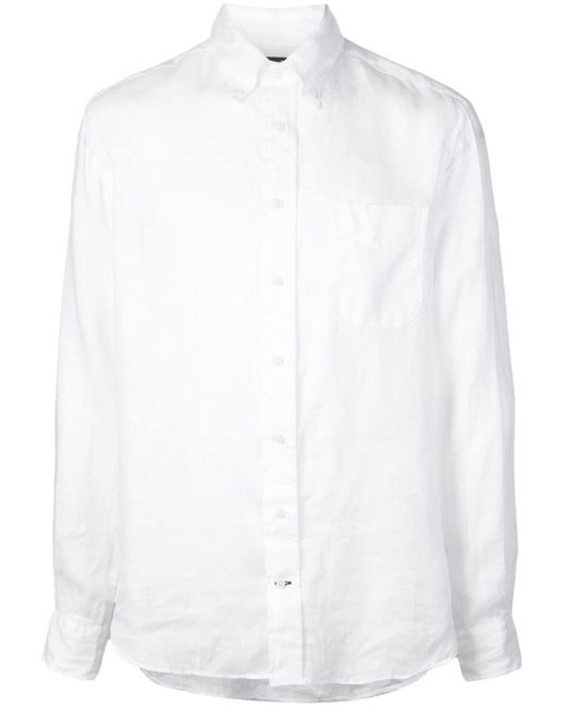メンズ Gitman Brothers Vintage ボタンダウン シャツ White