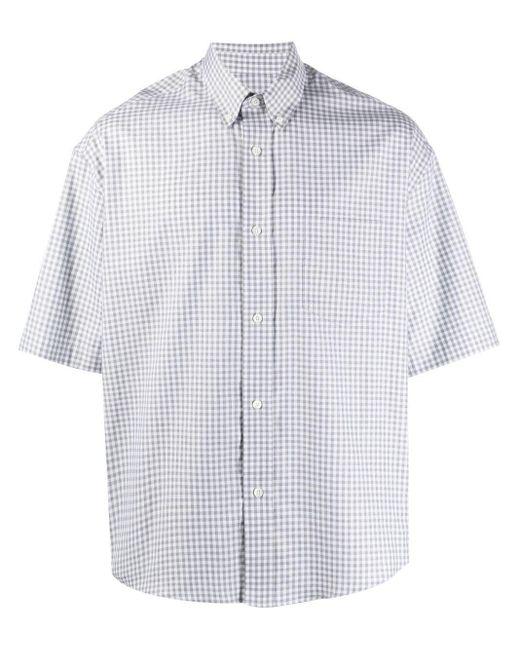 Клетчатая Рубашка Свободного Кроя AMI для него, цвет: Gray