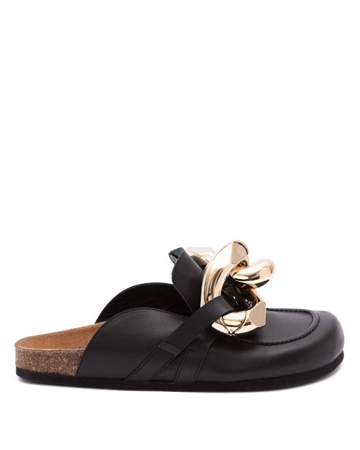 J.W. Anderson Black Chain Loafer Mules for men