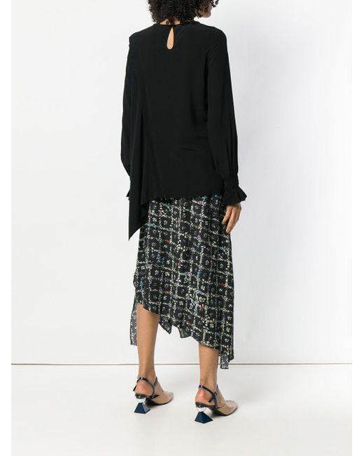 Liana top Preen Line en coloris Black