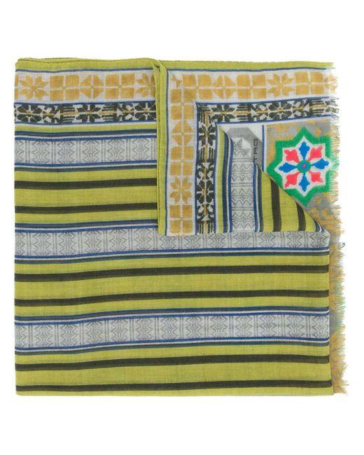 メンズ Etro ジオメトリック カシミアスカーフ Multicolor