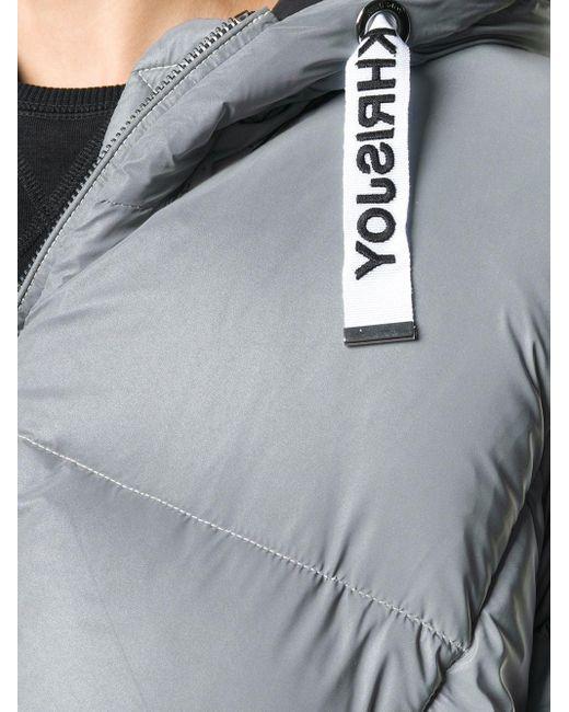 メンズ Khrisjoy オーバーサイズ パデッドジャケット Gray