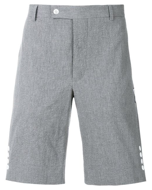 c52dd3bfdf29 Lyst - Moncler Side Button Tailored Shorts in Gray for Men - Save 7%