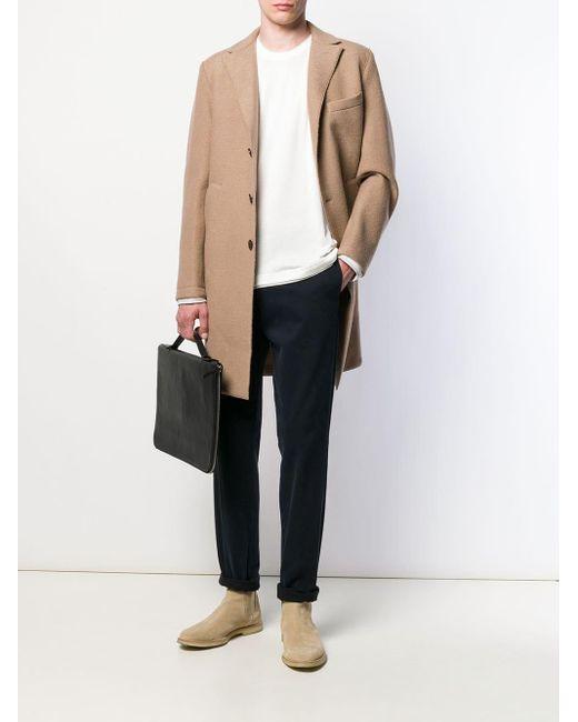 Chemise à design superposé Eleventy pour homme en coloris White
