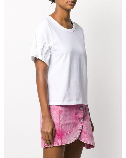 See By Chloé ラッフルスリーブ Tシャツ White